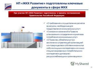 Постановления Правительства Рф В Сфере Жкх