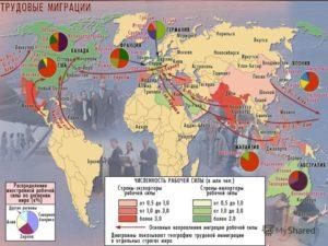 В каких странах азии преобладает эмиграция