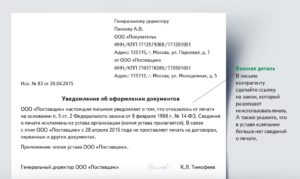 Бумага о том что ип работает без печати образец