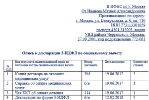 Опись Прилагаемых Документов К 3 Ндфл В 2020 Году Скачать