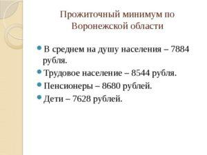 Минимальный Прожиточный Минимум В Воронеже В 2020 Году На Ребенка