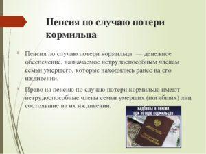 Оформление Пенсии По Потере Кормильца В Московской Области