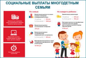 Какие Выплаты Положены Многодетным В Московской Области