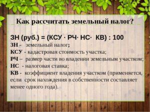 Налог с продажи земли сельхозназначения физического лица в 2020 году
