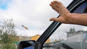 Выброс мусора из окна автомобиля какой штраф