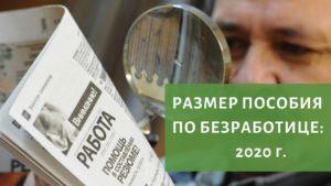 Минимальный Размер Пособия По Безработице В 2020 В Московской Области