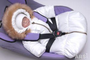 Автолюлька для новорожденных зимой