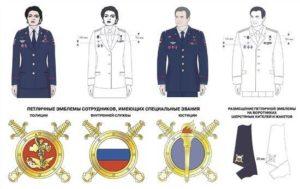 Медали на кителе полиции как на стальном так и на обычном