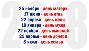 День родителей в россии какого числа