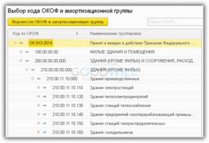 Сервер окоф 2020 амортизационная группа