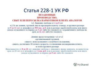 Поправки По 228.1 Ч 4 Ч3 В 2020 Году