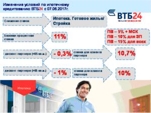 Как Снизить Процент Ипотеки В Втб