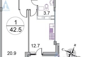 Минимальная площадь однокомнатной квартиры