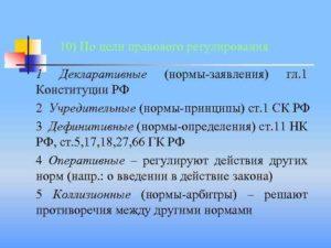 Нормы дефиниции в конституции рф примеры