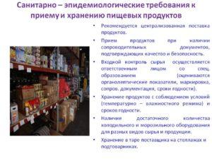 Санпин для предприятий непродовольственной торговли
