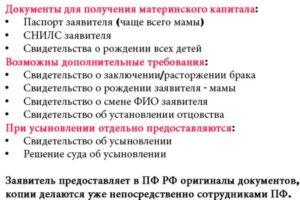 Перечень Документов Для Оформления Материнского Капитала В 2020