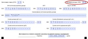 Новый код вида дохода 020 в 3 ндфл за 2020