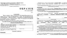 Образец заявления на гражданство рф 2020 по браку