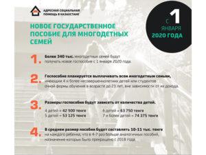 Пособия На Детей В Казахстане 2020